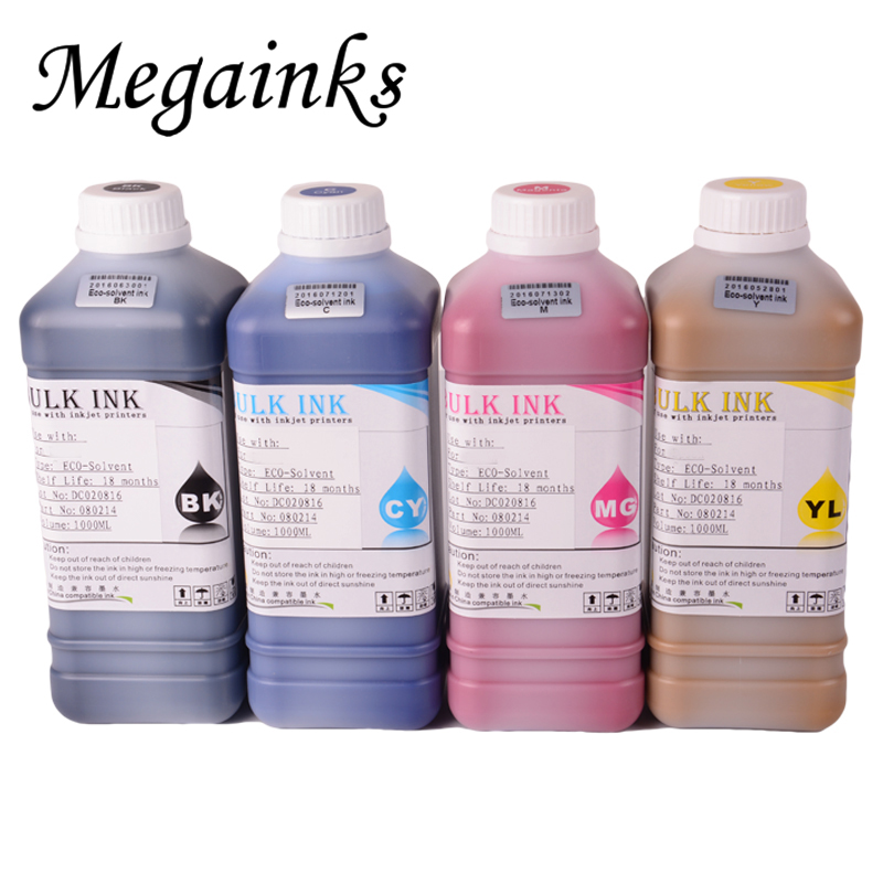 Todo color eco solvente tinta blanca para Mimaki JV33 JV34 CJV300 JV3 JV5 CJV150 CJV160 CJV30 impresora de tinta eco solvente