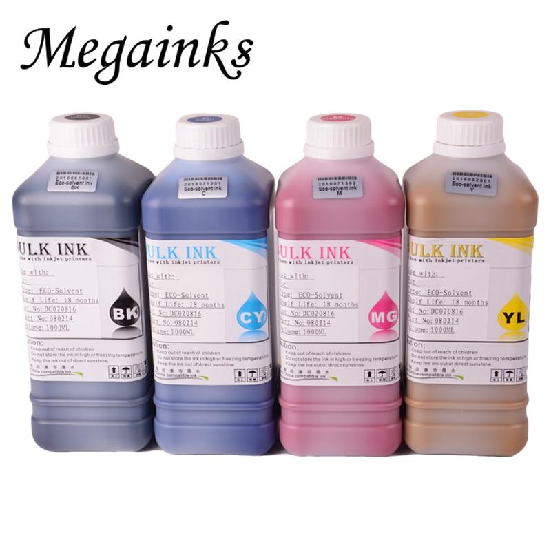 Toutes les couleurs eco solvant blanc d'encre pour Mimaki JV33 JV34 CJV300 JV3 JV5 CJV150 CJV160 CJV30 imprimante eco solvant encre