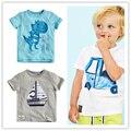 2016 Meninos Marca Do Bebê camiseta Roupa Dos Miúdos Dos Desenhos Animados Manga Curta T-shirt Camisetas De Algodão Verão Meninos 18 M ~ 6 T Bobo Choses