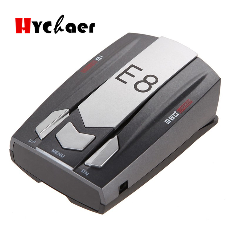 2V E8 Led Gps Laser Anti Radar Car Electronics Car Detector Best Antiradars Speed Auto Degrees Detect X K Ka Ct La 12V DC