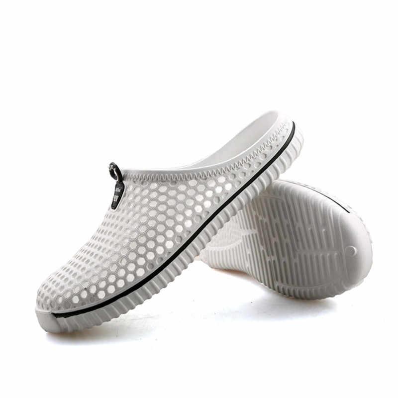 Saguaro 2019 verão chinelos homens oco para fora respirável praia flip flops unissex casual deslizamento-on sandálias sapatos masculinos zapatos