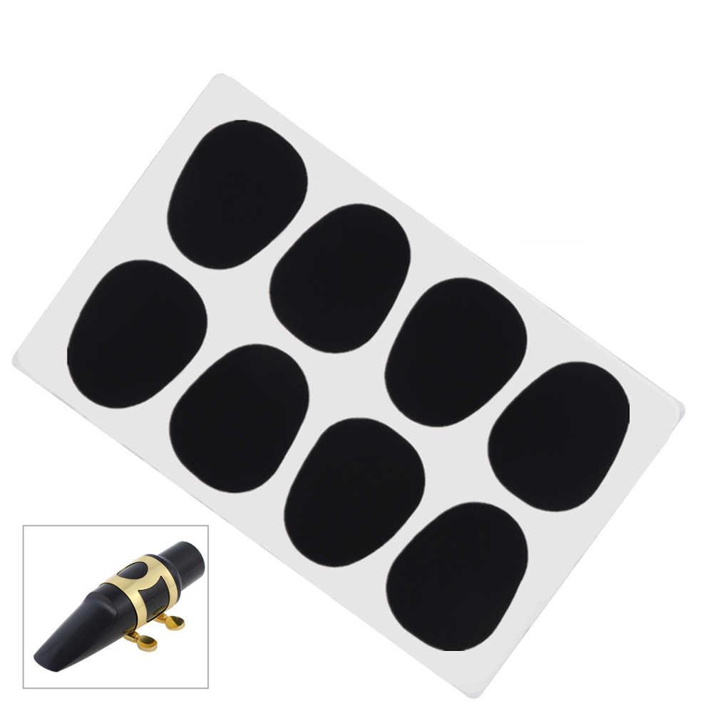 8 sztuk/partia czarny silikon 0.5mm saksofon altowy tenorowy Bb gumowe klarnet ustnik poduszki akcesoria dla początkujących