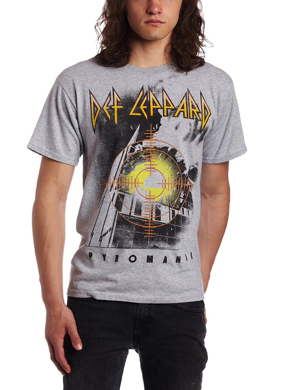 FEA Merchandising Mens Def Leppard Target Pyromania T-Shirt