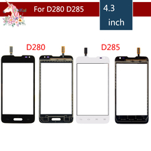 10pcs/lot High Quality For LG Series III L65 D280 D280N and L65 D285 Dual Touch Screen Digitizer Sensor Outer Glass Lens Panel