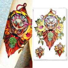 M-Theory 17 Style Tribal Temporary Tattoo Body Art, Night Hawk Owl , Flash Tattoo Sticker 12x20cm Swimsuit Bikini Makeup