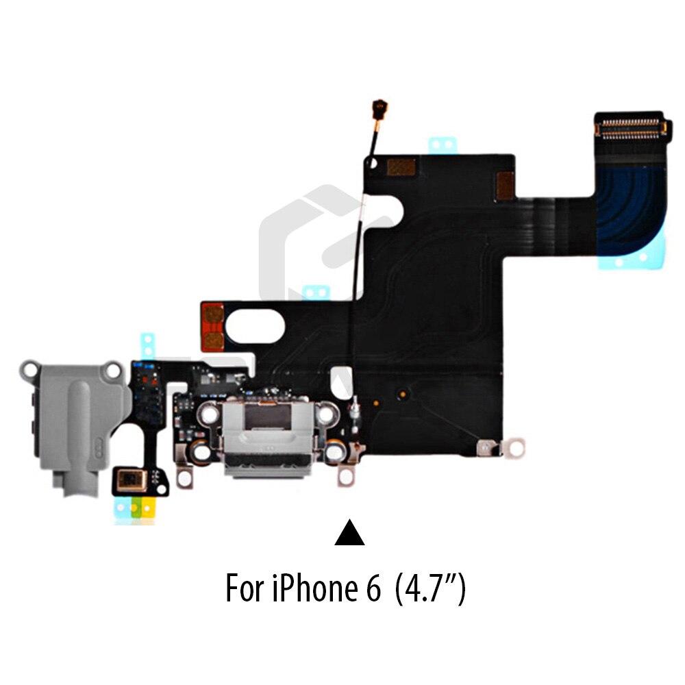 Image 4 - 1 PCS Charging Port Dock USB Connector Flex For iPhone 5 5S 6 6S 7 8 Plus Headphone Audio Jack Microphone Flex cable-in Mobile Phone Flex Cables from Cellphones & Telecommunications