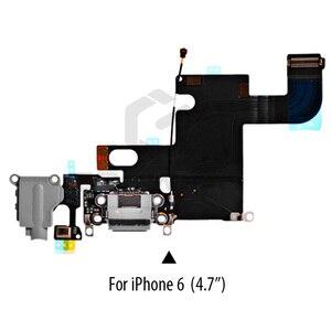 Image 4 - 1 PIÈCES Port De Chargement Dock USB Connecteur Flex Pour iPhone 5 5S 6 6S 7 8 Plus Casque Audio Jack Micro câble Flexible