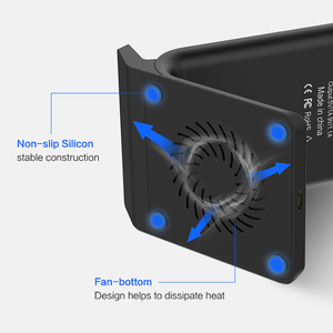 Image 4 - FLOVEME 10W טלפון QI מטען אלחוטי עבור iPhone 11 פרו מקסימום X USB QC 3.0 שולחן אלחוטי מהיר טעינה pad Dock עבור Samsung S10 S9