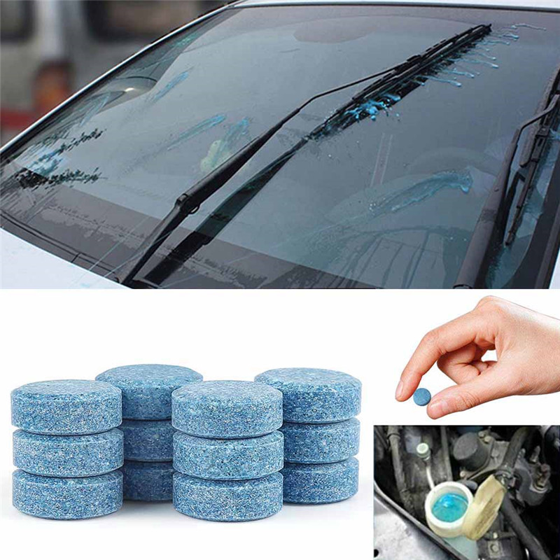 10(1pc=4L) Effervescent Spray Car Cleaner Solid Wiper Fine Auto Window Windshield Glass Cleaner Auto Car Accessory(China)