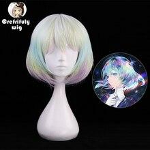 High Quality Hoseki no Kuni Diamond Cosplay Wig Costume Play Woman Short Adult Wigs Synthetic Halloween Anime Game Hair
