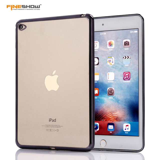 For iPad Air2 Tablet Case Luxury Slim Rubber Crystal Electroplated Frame for iPad 6