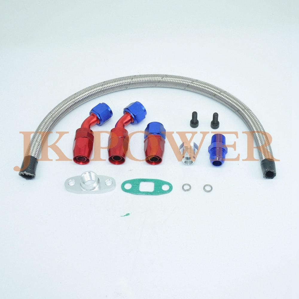 KIT de ligne de vidange d'huile et d'eau pour chargeur TURBO universel en aluminium JK