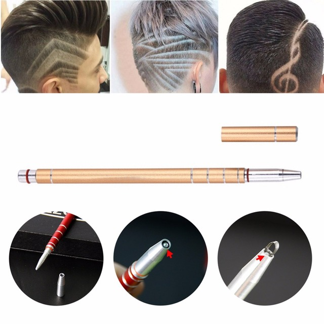 Hair Tattoo Trim Styling Razor Pen Gold Face Eyebrow Shaping Device