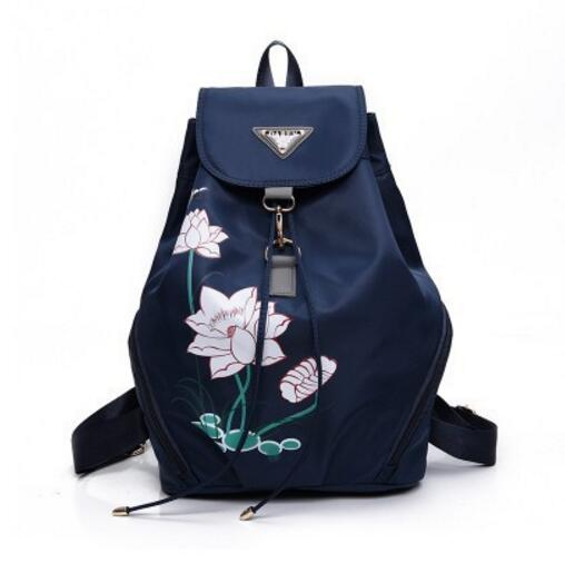The new students a schoolbag Printing institute of backpack backpack wind Contracted students bag rucksack dermis women bag 2016 new leisure backpack camouflage personalized backpack korea institute of wind schoolbag