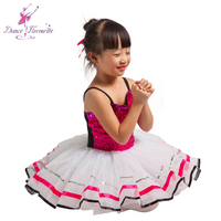 New Arrival! Hot Pink Sequin Spandex Bodice Ballet Dance Costume Tutu, Ballet Girl Stage Performance Ballet Tutu