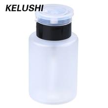 KELUSHI/партия, 10 шт., 160 мл, белый пластик, для снятия лака для ногтей, градуированная бутылка для жидкого спирта, герметичная крышка насоса