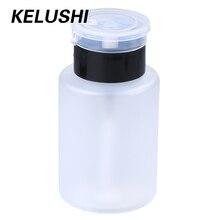 KELUSHI הרבה 10pcs 160mL לבן פלסטיק לק מסיר סיימה נוזל אלכוהול מחלק בקבוק Leakproof משאבת כובע