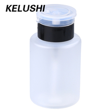 KELUSHI  a Lot 10pcs 160mL White Plastic Nail Polish Remover Graduated Liquid Alcohol Dispensing Bottle Leakproof Pump Cap