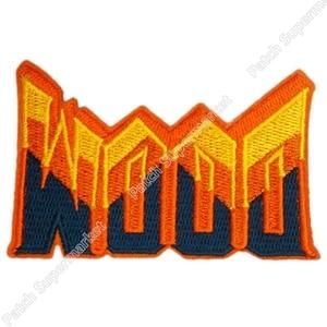 """Image 1 - 3.5 """"Doom TV seria filmów awaryjne odpowiedzi jednolite czerwony punk rockabilly mężczyźni aplikacja żelazko na plastry na odzież haft"""