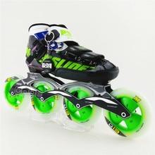 Взрослые/дети конькобежный inline обувь, patins слалом роликовые коньки профессиональные колеса бренд