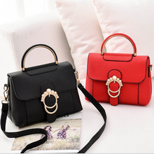 купить New bag fashion handbags popular wild handbag pu leather tide package Korean version of the shoulder diagonal small square bag по цене 1240.1 рублей