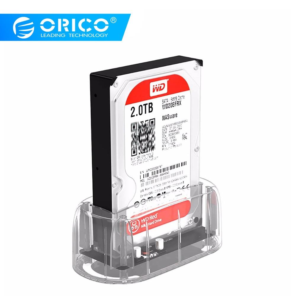Υποστήριξη σταθμού οπτικών ιντσών 2.5 ιντσών / 3.5 ιντσών για φορητούς υπολογιστές ORICO Υποστήριξη 8TB αποθήκευσης UASP πρωτοκόλλου USB 3.0 για σκληρό δίσκο SATA 3.0