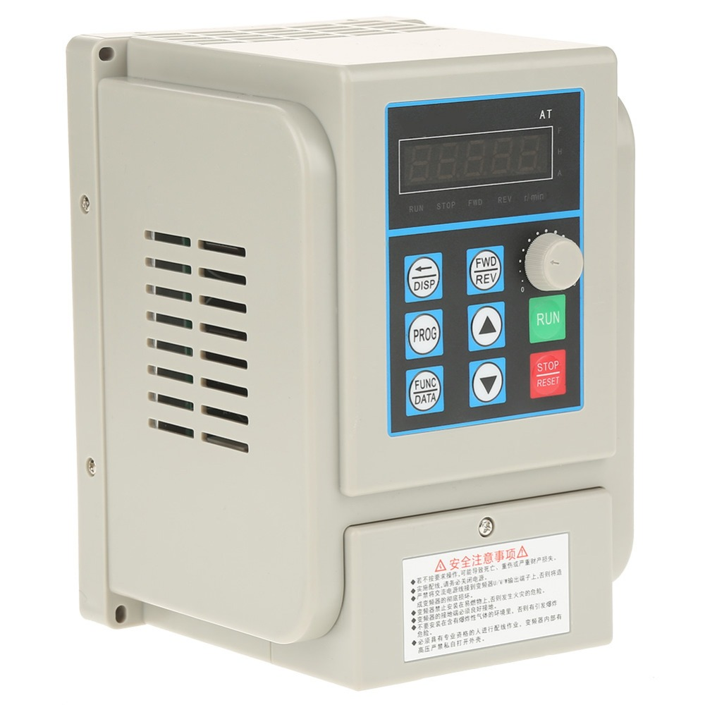 AC 220V Speed Controller Single-phase Variable Frequency Drive VFD for 3-phase 2.2kW AC Motor PWM Control Tool Accessory baileigh wl 1840vs heavy duty variable speed wood turning lathe single phase 220v 0 to 3200 rpm inverter driven