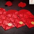 30 шт./лот китайский высокое качество мими бумажный мешок красный конверт новый год красный карман для праздника весны благословение