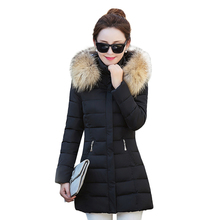 winter jacket women 2016 new winter coat warm down jacket Slim women in the long paragraph Thick fur collar womens coats