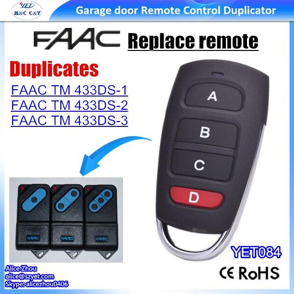 Faac Tm 433ds 1 Faac Tm 433ds 2 Tm 433ds 3 Compatible Remote