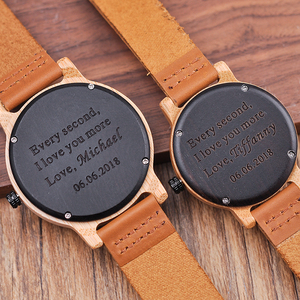 Image 5 - Engraved Wood Watches for Men Women Anniversary Lovers Engagement Gift Personalized Watch for Father Gift for Son