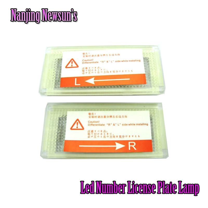 High brightness Error Free White 18 SMD LED Number License Plate Lights for BMW Mini cooper