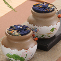 New Ceramic Pottery Tea Pots Cans Ceramic Sealed Cans Candy Storage Tanks Ceramic Jars Small Bottles