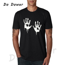 6c184501ef3b Zombie Bloody Hands Print Men T Shirt Casual Funny Tshirts for Man Tee  Hipster Funny O