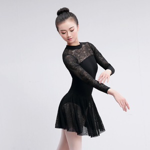 Image 4 - Professional Adult Ballet Leotard Sexy Lace Ballet Dress For Women Teacher Training Costumes Women Ballet Dance Wear Black Red