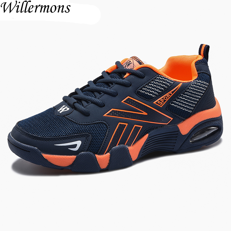 Mens Low Top Outdoor Breathable Mesh Air Sole Sports Running Shoes Men Anti-slip Jogging Sneakers Shoes For Walking