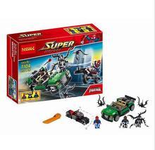 237pcs Decool 7104 Marvel Super Heroes Ultimate SpiderMan Building Blocks Set DC blocks Bricks Compatible Lepin