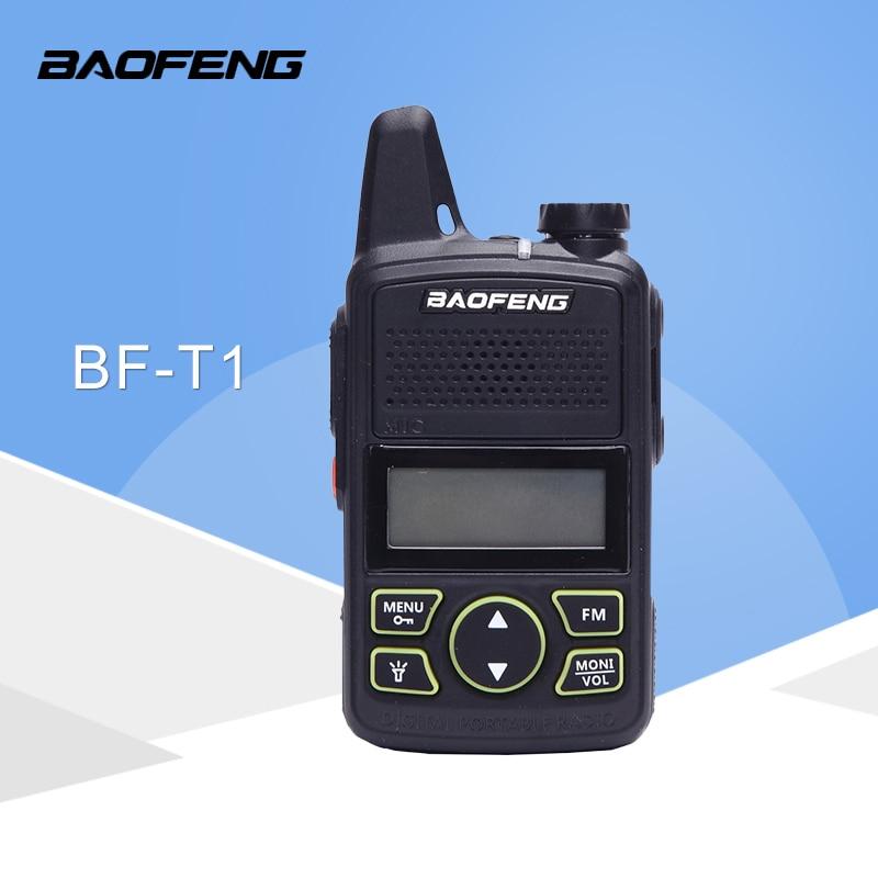 Baofeng BF-T1 frequência 400-470 mhz 20 canais mini ultra-fino micro condução baofeng hotel civil walkie talkie
