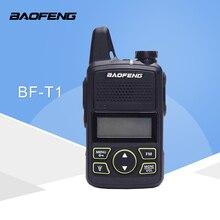 Baofeng BF T1 주파수 400 470 mhz 20 채널 미니 초박형 마이크로 운전 baofeng 호텔 민간인 워키 토키