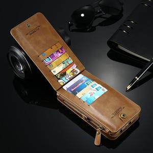 Image 3 - Floveme注3 4 5レトロ財布レザーケース三星銀河S6エッジプラスS7 iphone xs xr最大5s、se 6 6s 7 8プラスカバー