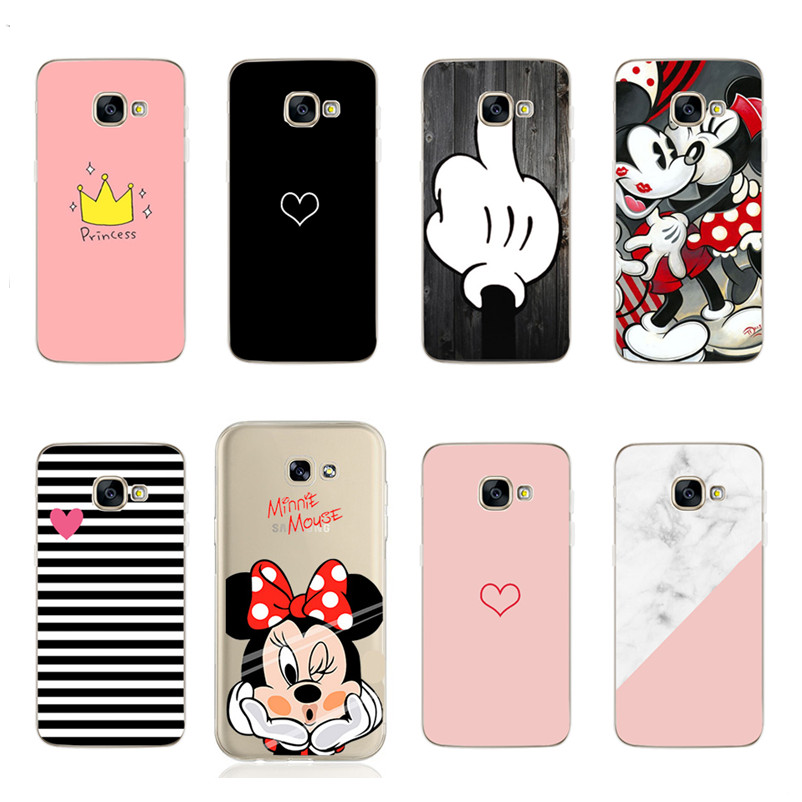 Minnie For <font><b>Samsung</b></font> S9 <font><b>Case</b></font> Silicon Cover for <font><b>Samsung</b></font> A5 A3 2017 <font><b>A8</b></font> Plus 2018 S8Plus S9Plus S9 Plus <font><b>Phone</b></font> <font><b>Case</b></font> Cover image