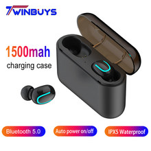 Twinbuys TWS 5.0 Bluetooth Earphones Bluetooth 5.0+EDR Headset IPX5 Waterproof Mini Wireless Earbud Cordless Headphones With Mic(China)