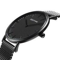 Top Brand Luxury Quartz Watch Men Casual Japan Quartz Watch Business Stainless Steel Mesh Strap Ultra