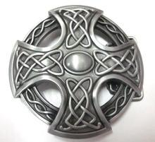 3D Round Keltic Cross Knot Belt Buckle Germanic Style