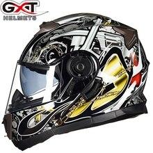 Frete grátis 1 pcs GXT DOT Dupla Viseira Virar Para Cima de Moto Moto Motocross Casco Capacete Full Face Modular de Segurança Da Motocicleta capacete