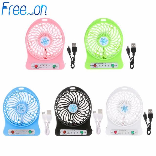 Tragbare LED Licht Mini Fan Luftkühler Mini Schreibtisch USB Fan Dritte Wind USB Fan