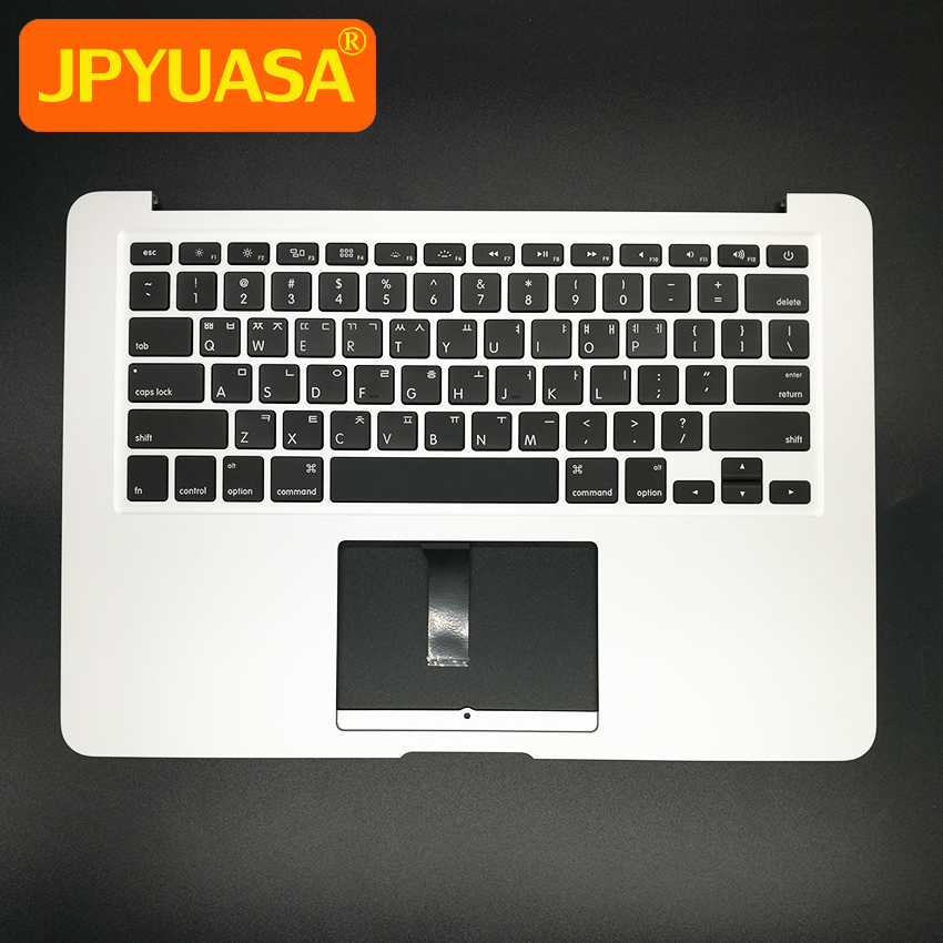 New A1466 Topcase with keyboard For MacBook Air 13 A1466 Korea Korean KR Top Case keyboard 2013 2014 2015 Years original new topcase 11 6 for macbook air a1370 a1465 palmrest top case with us keyboard backlight no touchpad 2013 2015