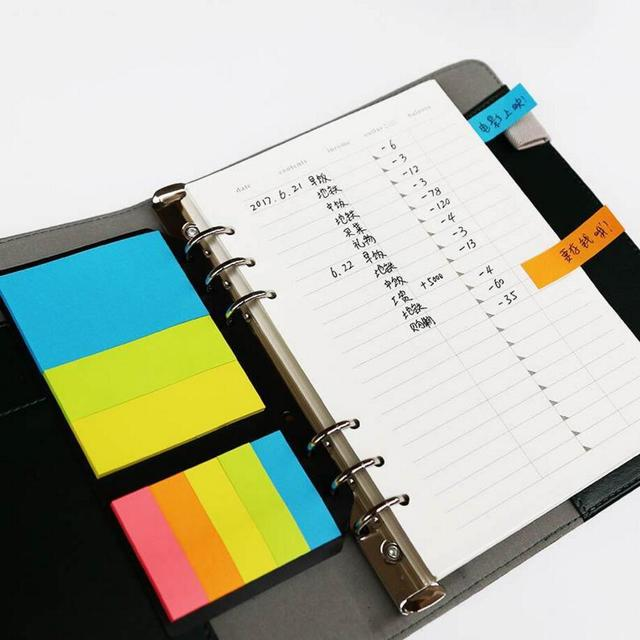 240 page 5 color rainbow design sticky notes and memo pads a5 a6 b5
