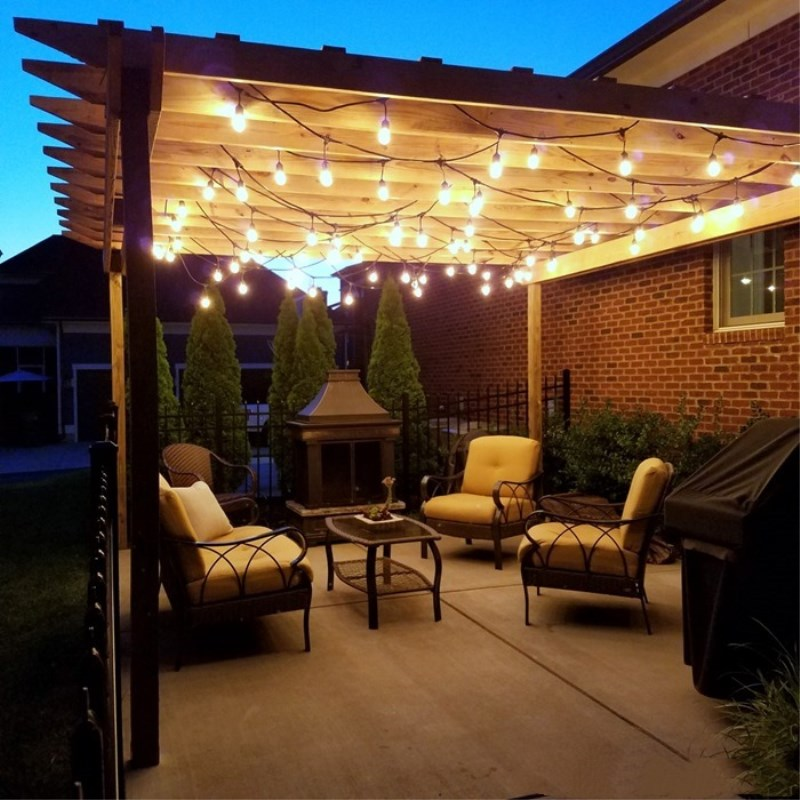 lighting lights patio will strand ideas breathtaking yard light outdoor you woohome fascinate string and
