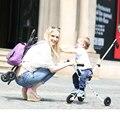 Populares niños cochecito de bebé cochecito de bebé cochecito de luz simple carro portátil plegable triciclo carro de bebé súper ligero al aire libre